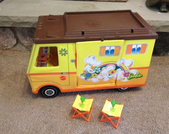Vintage Mattel Barbie Country Camper & Accessories - 1970s