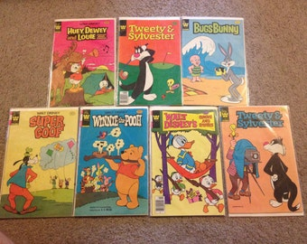 Vintage Whitman Comic Book - Huey Dewey Louie, Tweety and Sylvester, Bugs Bunny