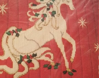 Hard to find, Something Special Longstitch Needlepoint  Kit Holly Unicorn Kit