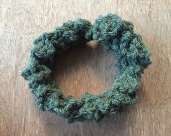 Plaited Handmade Knitted Headband Olive Green