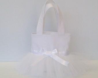 FLOWER GIRL BAG, tulle wedding bag, tulle bag, tutu wedding bag, bridesmaids bag, wedding bags