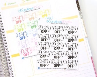 15 DAY OFF Banner Stickers! Perfect for your Erin Condren Life Planner, Filofax, Kikkik, Plum Paper , or scrapbooking! #SQ00853