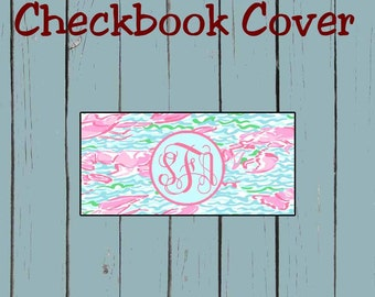 Checkbook Cover Lilly Pulitzer Inspired Design Personalized Checkbook cover