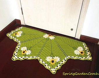 Crochet Pink Floor Rugcrochet Doily Lace Rug Carpetfloor