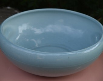 Blue Russell Wright Iroquois Casual China Mid-Century Bowl with Indented Handles