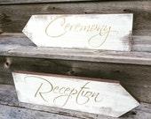 Wedding directional signs, wedding arrows, wood arrows, wood wedding signs