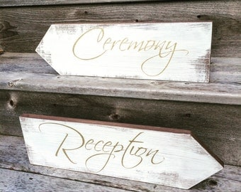 Wedding directional signs, wedding arrows, wood arrows, wood wedding signs