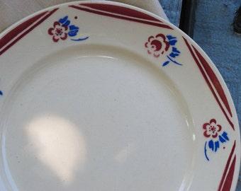 4 Luneville K&G plates - Red flowers - Model Luce