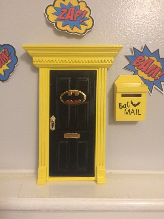 superhero door fairy door batman