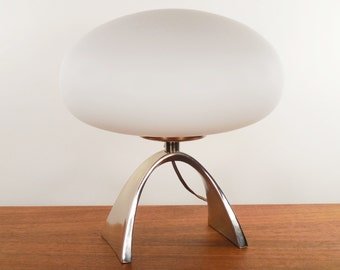Mid Century Modern Chrome Laurel Table Lamp by Bill Curry
