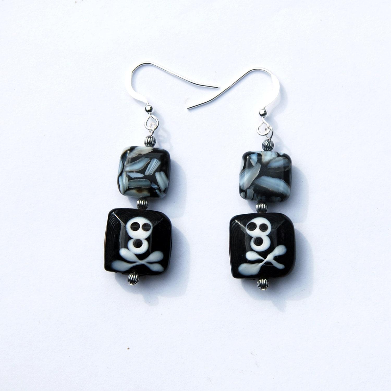 black and white skull earrings earrings of