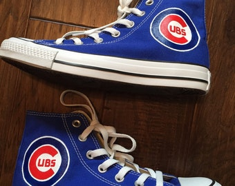 Painted Shoes- Chicago Cubs Converse