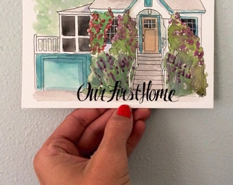 5x7 Custom Home illustration