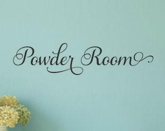 Powder Room Decal Powder Room Vinyl Bathroom Wall Decal Bathroom Vinyl Decal Bathroom Decal Wall Words Bathroom Wall Decor Bathroom Decor