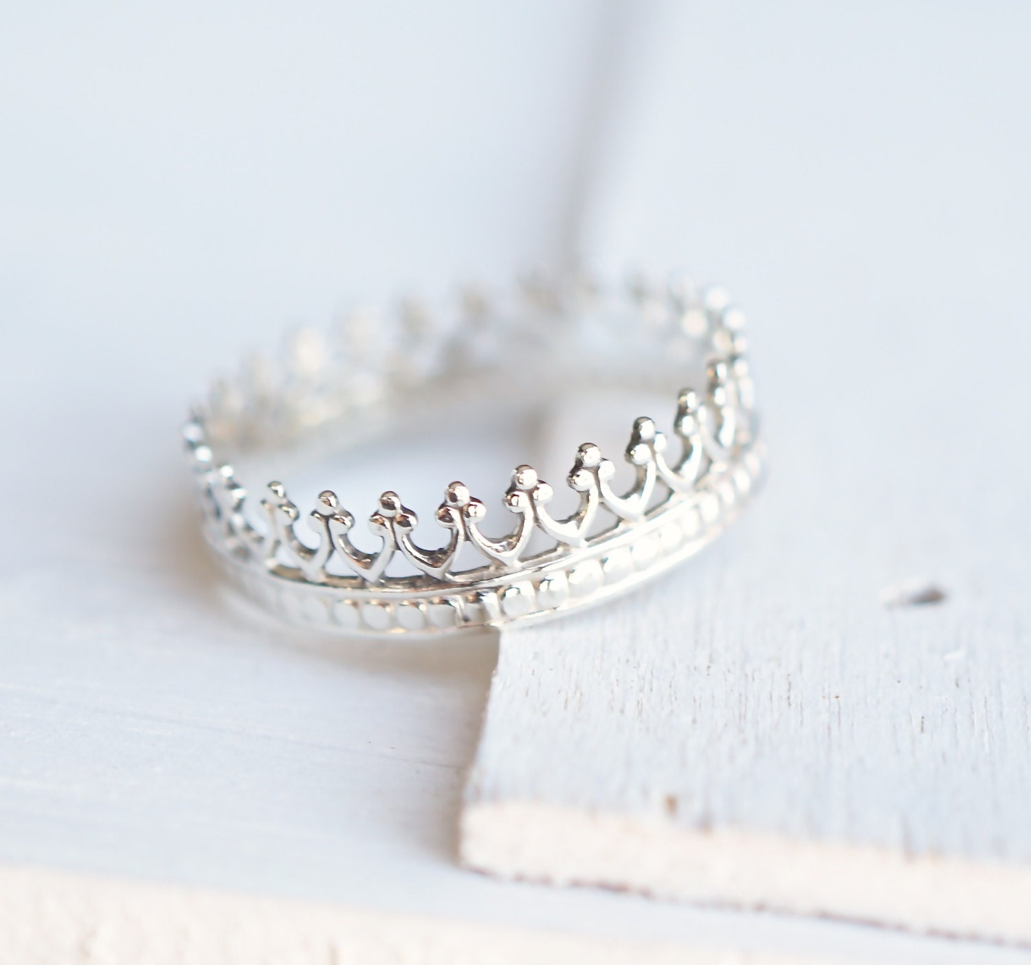 crown ring sterling silver ring princess ring gift for by
