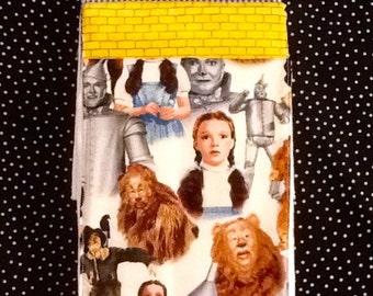 Wizard of Oz Baby Burp Cloth. Premium 6-ply diaper. Set of 3