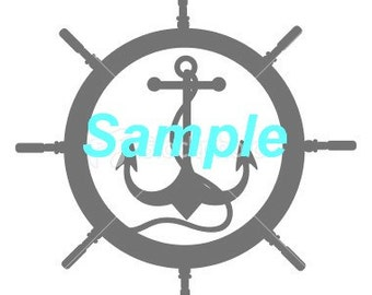 wheel and anchor SVG