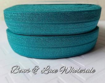 2, 3, 4, 5 or 10 yards Jade Fold over elastic, FOE. Headbands, Hair ties, DIY, Crafts, Hair accessories