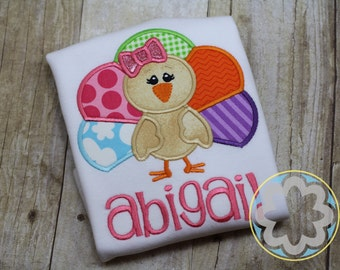 Girl Turkey Personalized Thanksgiving Shirt