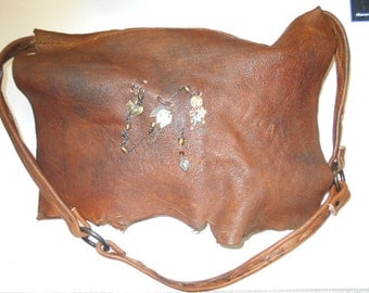 brown leather purse, brown messenger bag, brown shoulder bag, leather purse, antique leather bag, leather messenger bag, purse