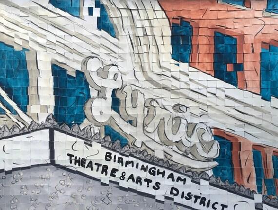 "Birmingham Alabama-Lyric Theater- Architectural Art: 12""x16"" Original Painting"