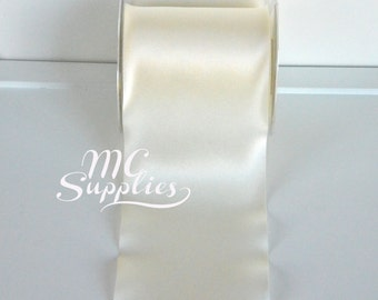 Ivory ribbon,satin ribbon,wide ribbon,embellish ribbon,sewing ribbon,ribbon for bows,fabric ribbon,scrapbooking ribbon,decorative ribbon.