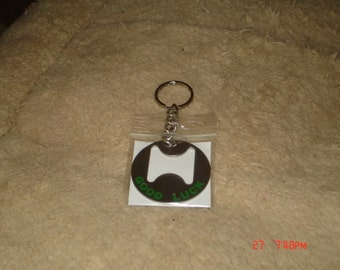 Good Luck Keyring Bottle Opener and Lottery Ticket Scratcher