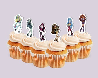 INSTANT DOWNLOAD Monster High cupcake toppers