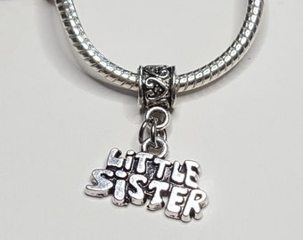 Little Sister Dangle Charm / Spacer - Nice Charm -Fits all Designer and European Charm Bracelets*