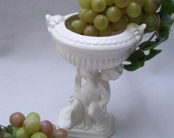 White Cherub Planter Angel Decor Urn Rubens Japan
