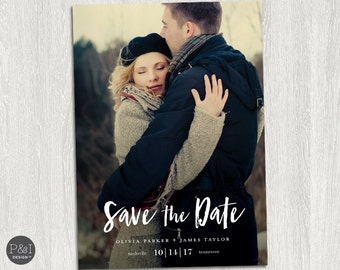 Save the Date Photo Invitation / DIY / Postcard / Customized Printable (5x7)