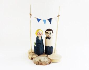 Vake wedding cake toppers
