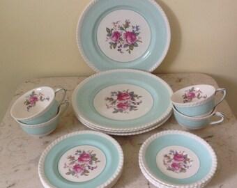 Vintage Johnson Brothers English Dish Tea Dessert Set