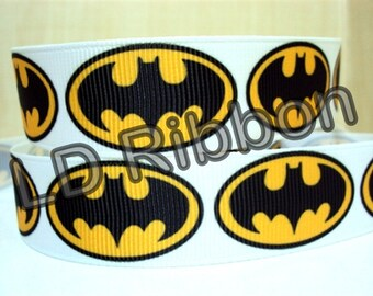 "7/8"" Black & Yellow Grosgrain Ribbon"