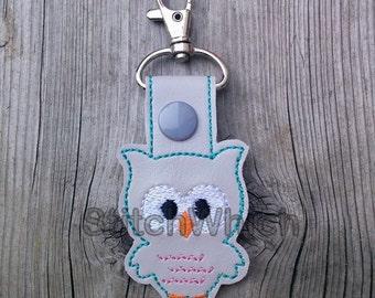 Owl Snap Tab/Key Fob