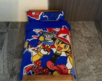 Pokemon Single duvet & pillowcase for dolls house