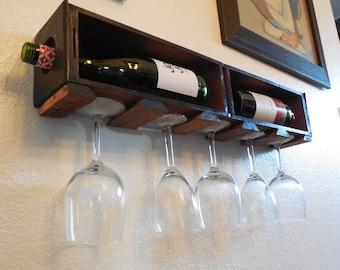 Vintage Sewing Drawer Wine Rack