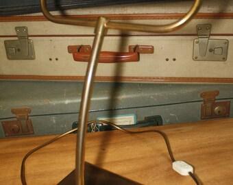 heavy, brass desk light, fifties