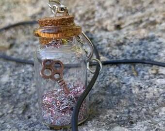 Cupid's Key Wishing Bottle