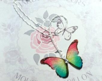 Magical Rainbow Butterfly Pendant