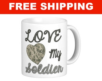 Love My Soldier Mug - 11 oz