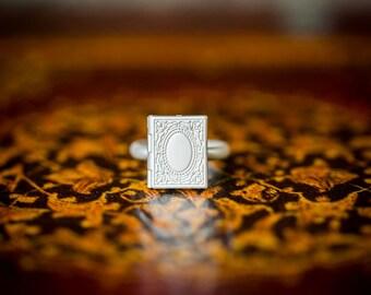 Book Locket Ring