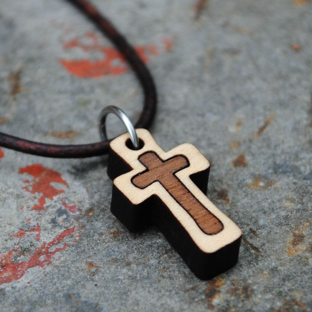 Wood Cross Necklace  eBay
