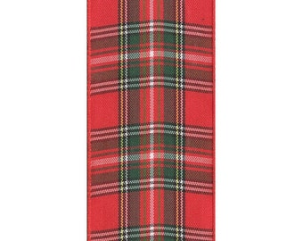 "Fashion Plaid Ribbon - Christmas Red and Green Plaid Ribbon (Available in 3/8"" & 1.5"" widths)"