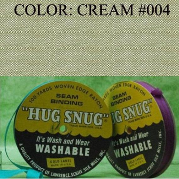 CREAM Hug Snug Seam Binding 100-yds Roll 1/2 Wide