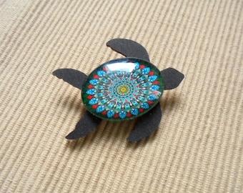 Brooch, sea turtle (1864)