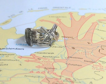 windmill ring , dutch ring,  spoon ring, holland  ring