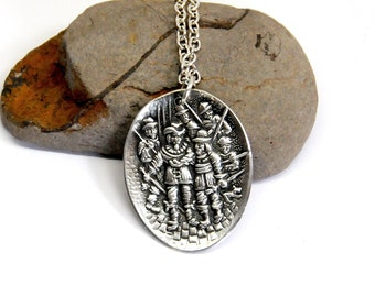 muskateer necklace,  medieval  necklace,  spoon necklace