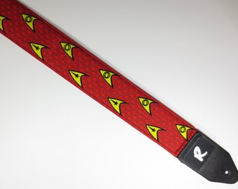 Sci Fi Symbols Guitar Strap - Outer Space - Not A Licensed Item