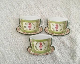 Melamine Tea Bag Holders, Cup & Saucer Tea Bag Holders, Set of 3, Tea Bag Holder, Made in Italy